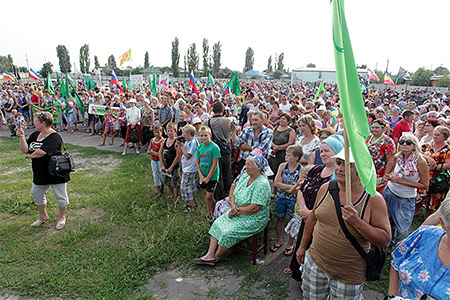 Воронежская область, митинг протеста в Новохопёрске 5 августа 2012