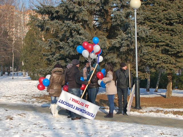 Митинг в поддержку Путина. Краснодар, 11 февраля 2012